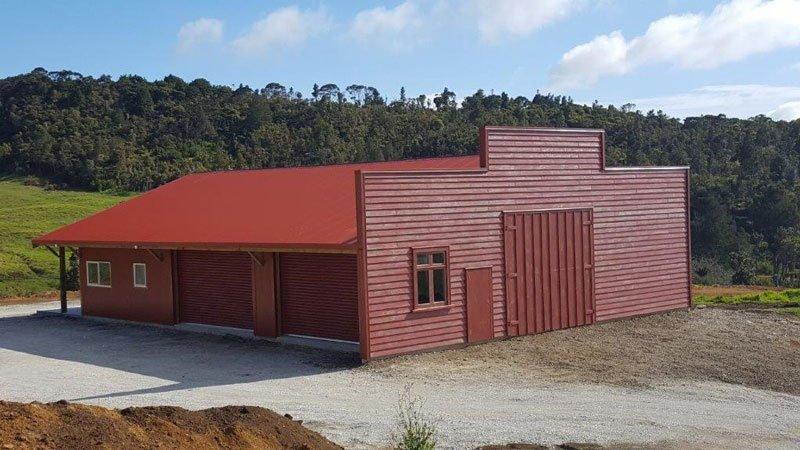 maroon house
